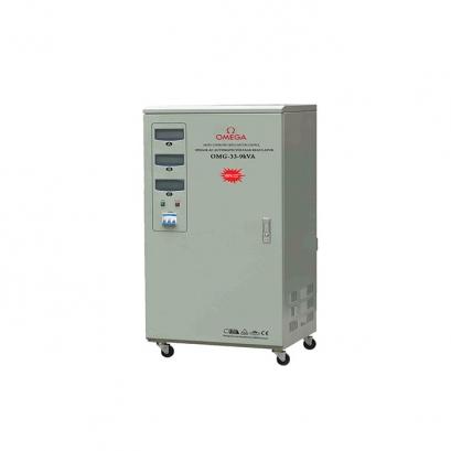استابلایزر سه فاز نیمه صنعتی سروو موتوری OMG-33-9Kva